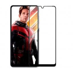 Vidrio Templado Full Cover Samsung A31 Colocado