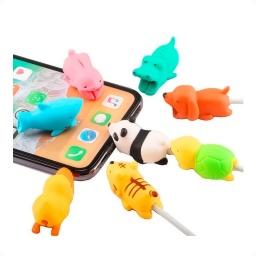 Protector para Cable Micro USB tipo C iPhone Animales Cargador - Otec