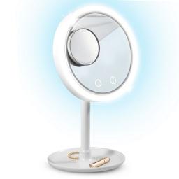 Espejo Ventilador Aro De Luz Led Aumento