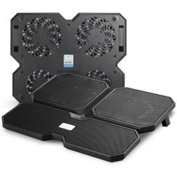 Bandeja Notebook Deepcool Multi Core X6 + Puerto Usb Negra