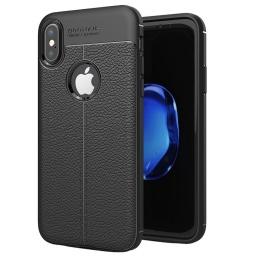 Protector Tpu Cuero Autofocus Iphone X