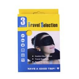 Set Viaje Almohada Inflable Tapon Oidos Cubre Ojos