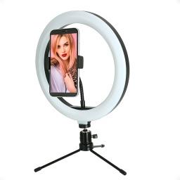 Aro Luz Led Con Tripode Selfie 26 Cm 24 W / 120 Leds