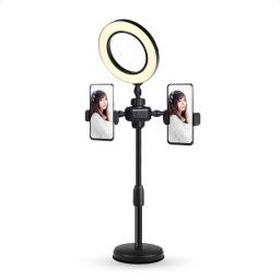 Aro Luz Led Con Pinza Para Mesa Selfie Soporte Telefono