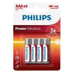 Pilas Alkalina Philips Aa (4 Uni) Lr6p4b/97