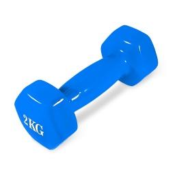 Mancuerna 2kg Revestida Fitness Excelente Calidad