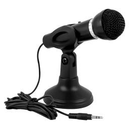 Microfono Pc Con Pie Y Boton De Encendido