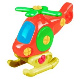 Helicoptero De Juguete Desmontable