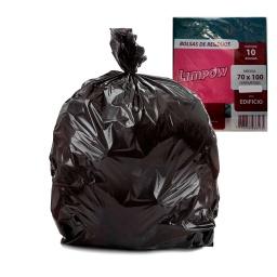 Bolsa De Residuos Negras X10 Unidades 70x100 Cm