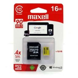 Micro Sd Maxell 16gb Clase 10 Con Adaptador