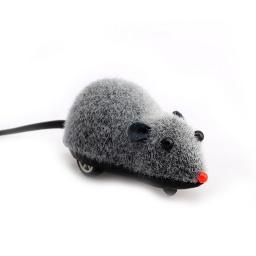 Juguete Ratón A Cuerda Gris