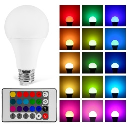 Lampara Led Colores A Control Remoto 10w Regulable Rgb