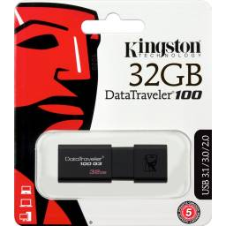 Pendrive Usb 3.1 Kingston Datatraveler 100 G3, 32gb
